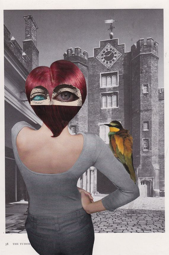 Original Collage  Eyes on the back of her by kellygormanartwork, $28.00