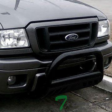 Topline Autopart Black Hd Heavyduty Bull Bar Brush Push F