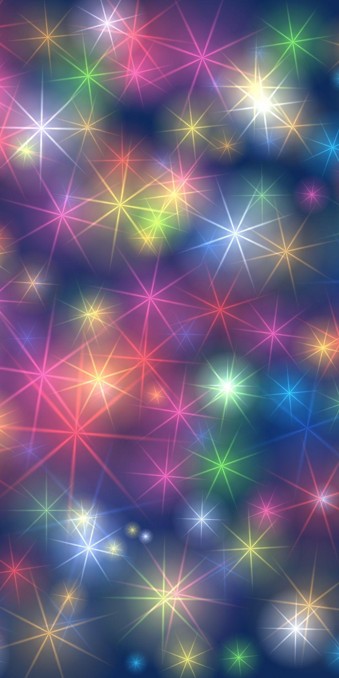 Colorful Snowflakes Patterns Glow Blur 1080x2160 Wallpaper Rainbow Wallpaper Cellphone Wallpaper Colorful Wallpaper