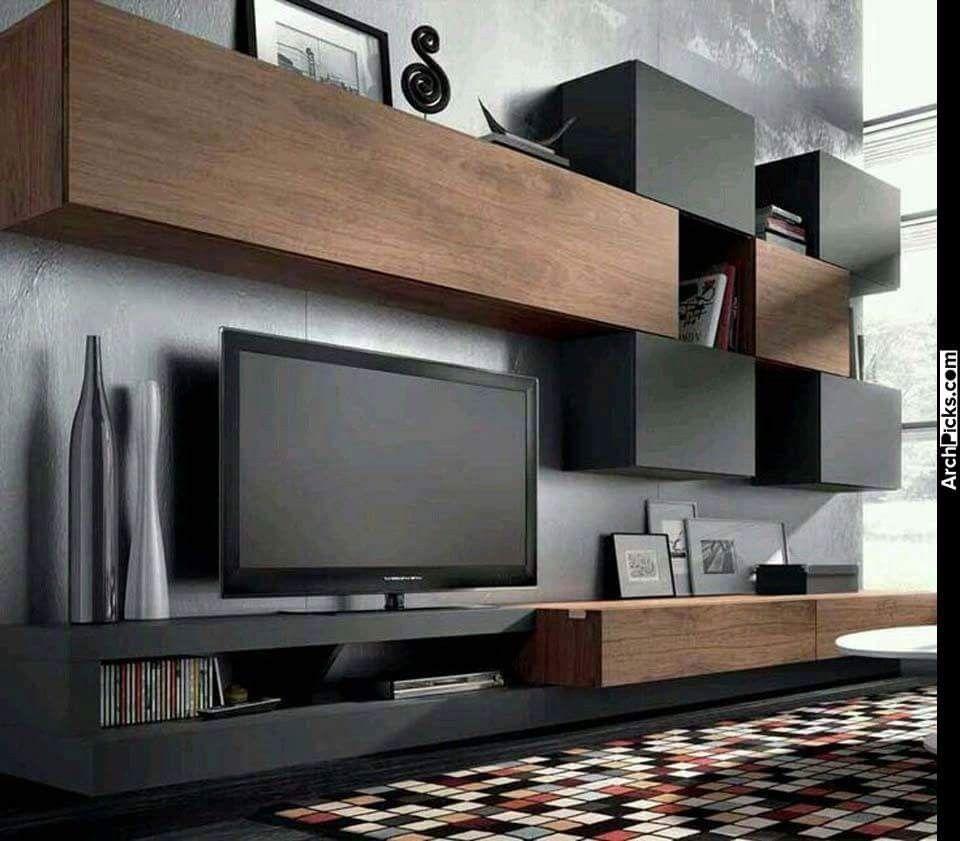 Wandmöbel, Tv Möbel, Farblich Abgesetzte Wände, Wand Ideen,  Unterhaltungsgeräte, Ideen Für Wohnzimmer, Tv Wände, Schrank, Tvs