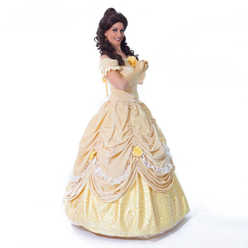 Beauty And The Beast Adult Costumes Fairytale Princess Belle Dress