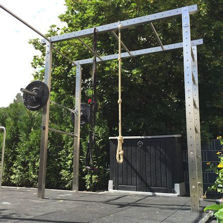 Crossfit-Station für den Garten Outdoor zum Selber bauen aus Nirosta V2A - #athome #crossfit #ejerci...