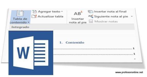 10 Pasos Para Elaborar Tablas De Contenidos Automáticos Utilizando Microsoft Word Tabla De Contenido Recursos Didácticos Didactico