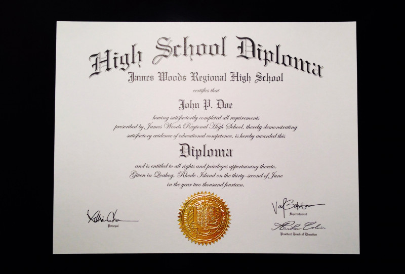 Ged Certificate Template New High School Diploma Format