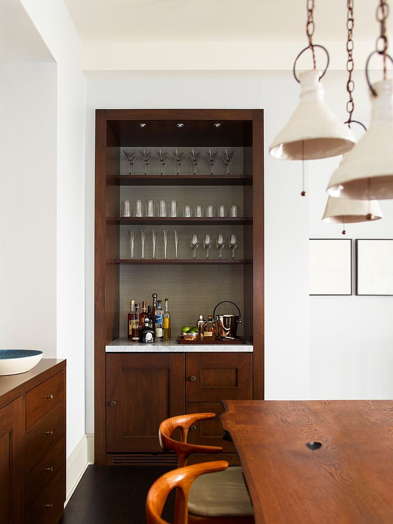20 small home bar ideas and space savvy designs dining for Dining room bar ideas