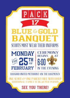 blue gold banquet save the date - Google Search