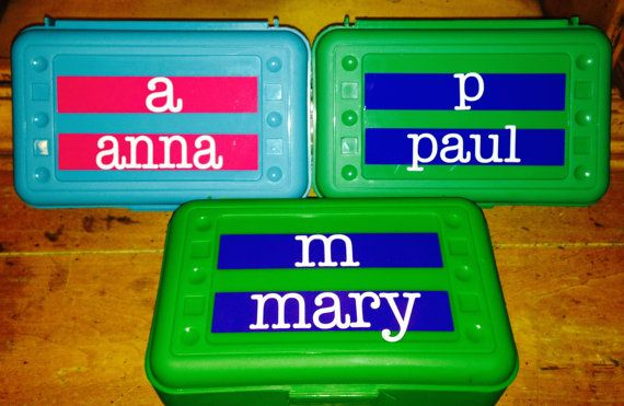 BACK TO SCHOOL  Personalized Pencil  Box  by MonogramCollection
