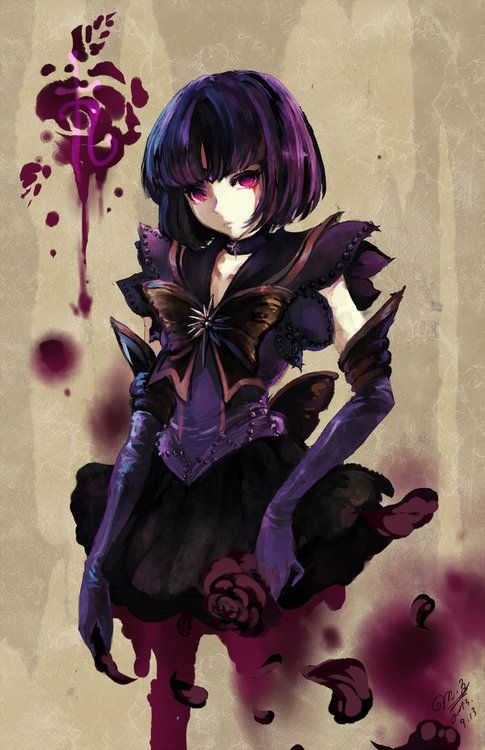 girlsbydaylight:  Dark Sailor Saturn by *Ruriko-sama