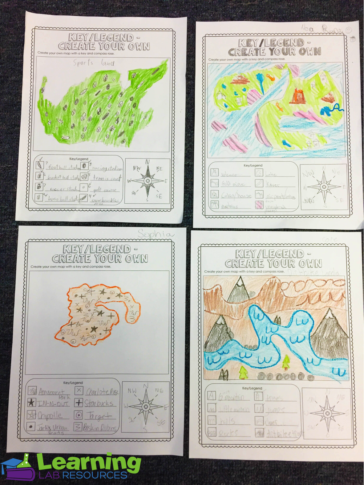 small resolution of Let students have fun while learning about map skills with this interactive  unit! Topics include cardin…   Map skills