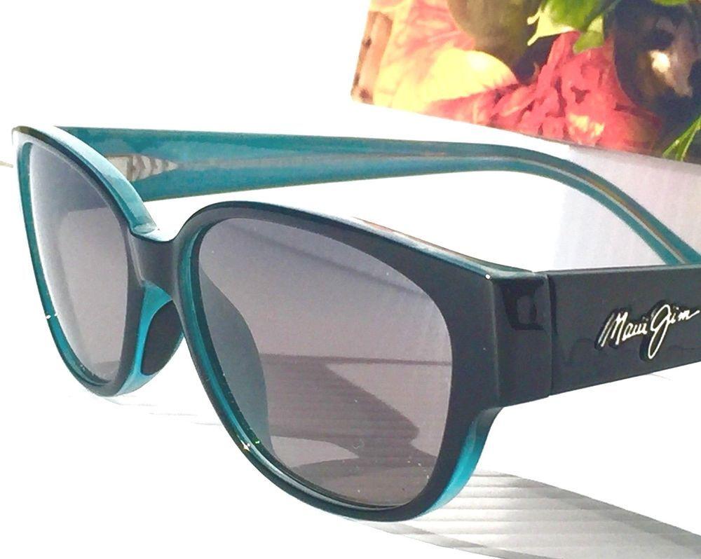 38fc879ca6f NEW  Maui Jim ANINI BEACH Black Blue POLARIZED Grey Women s Sunglass  GS269-03A  MauiJim  Rectangular
