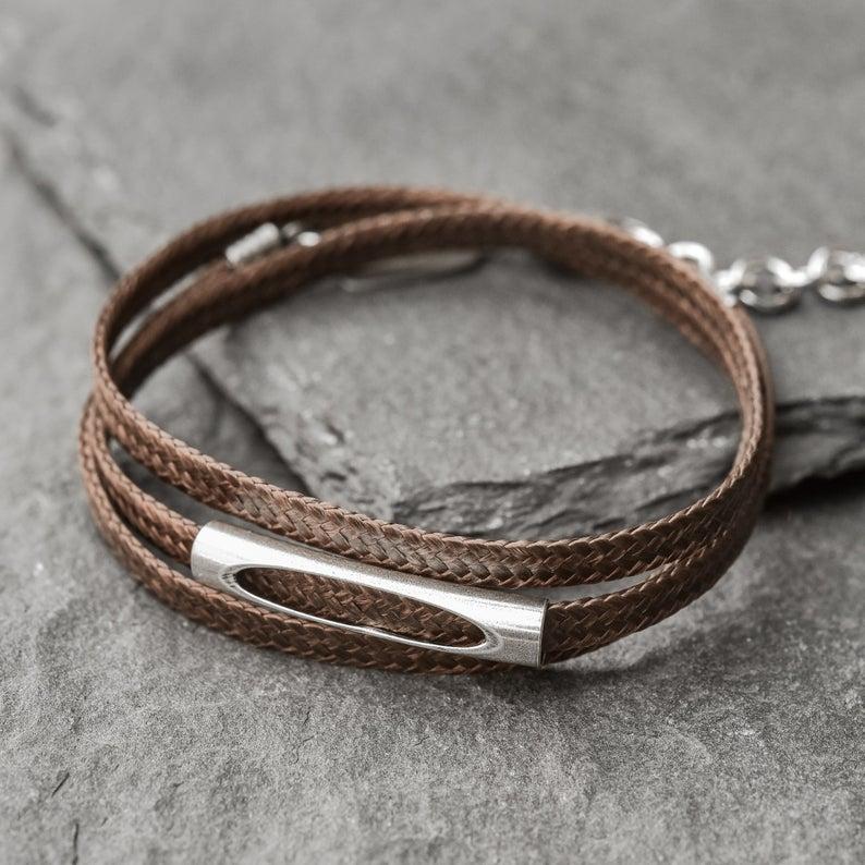 Husband Gift Men Jewelry Men/'s Vegan Bracelet Men/'s Bracelet Cuff Bracelet Minimalist Fashion Jewelry for boyfriend/'s Birthday Surprise