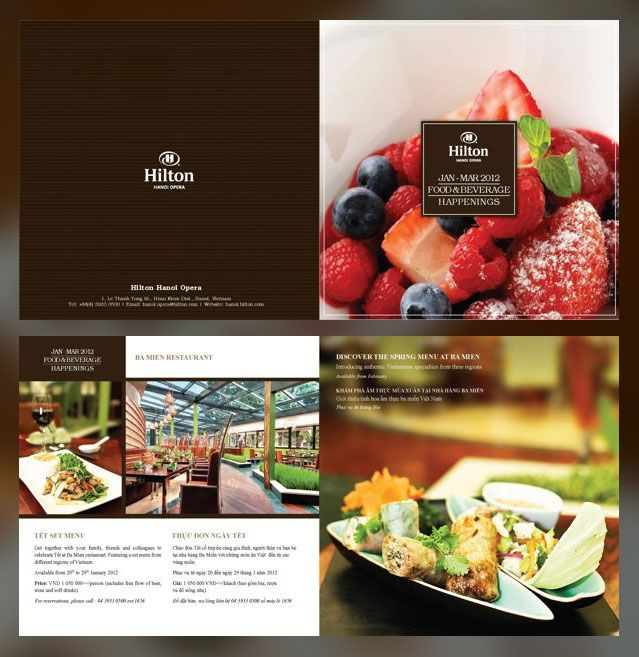 Restaurant Brochure Design Examples For Inspiration  Print Design