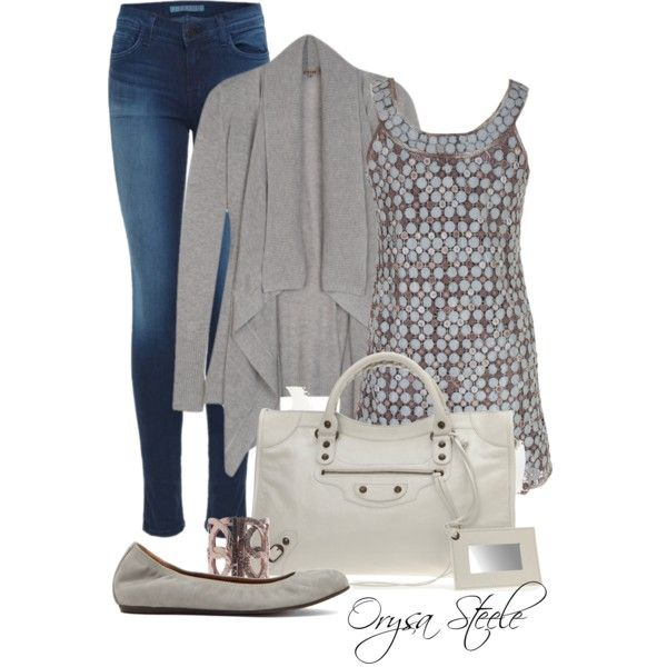 """Misty Grey"" by orysa on Polyvore"