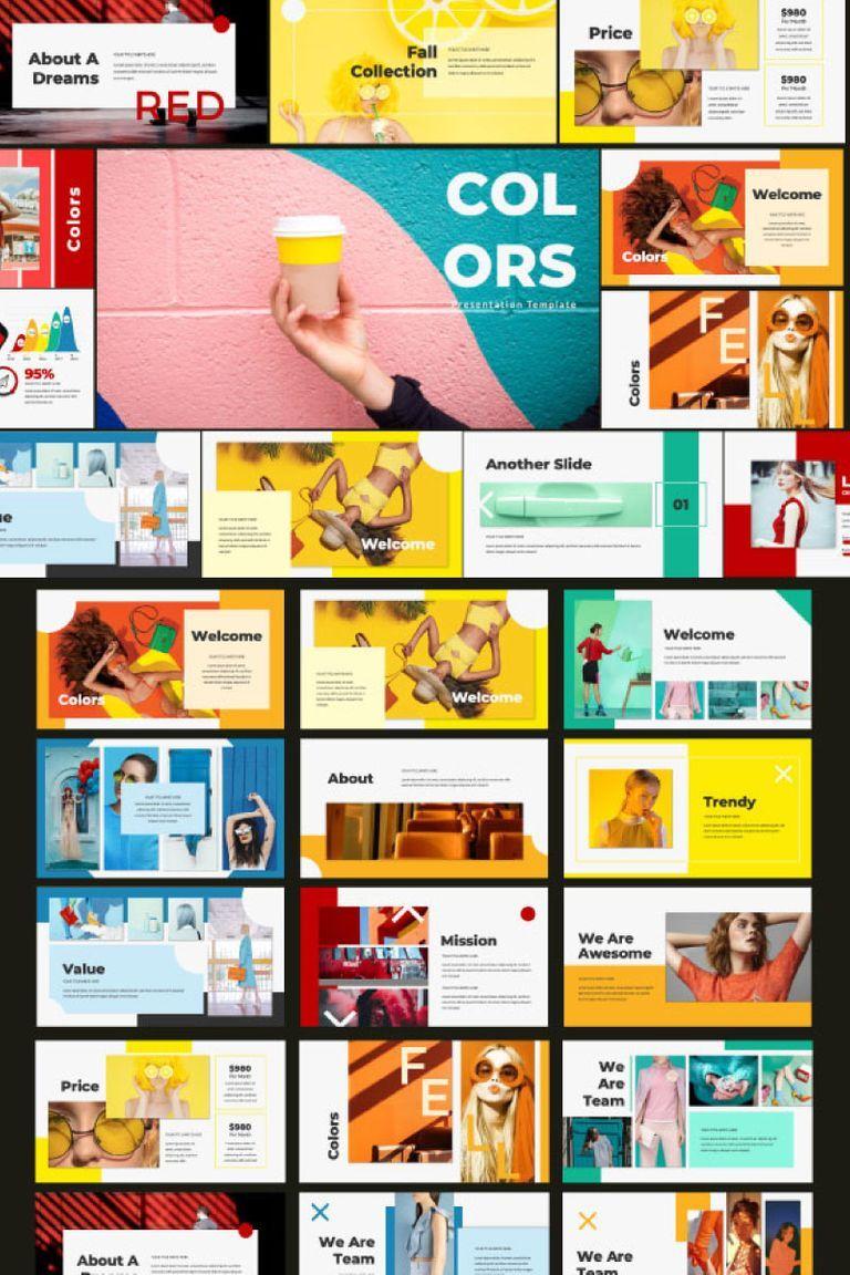 Colors Powerpoint Template Powerpoint Powerpointdesign Powerpointpresentation Presentatio Dizajn Zhurnalnogo Maketa Shablony Power Point Dizajn Prezentacii