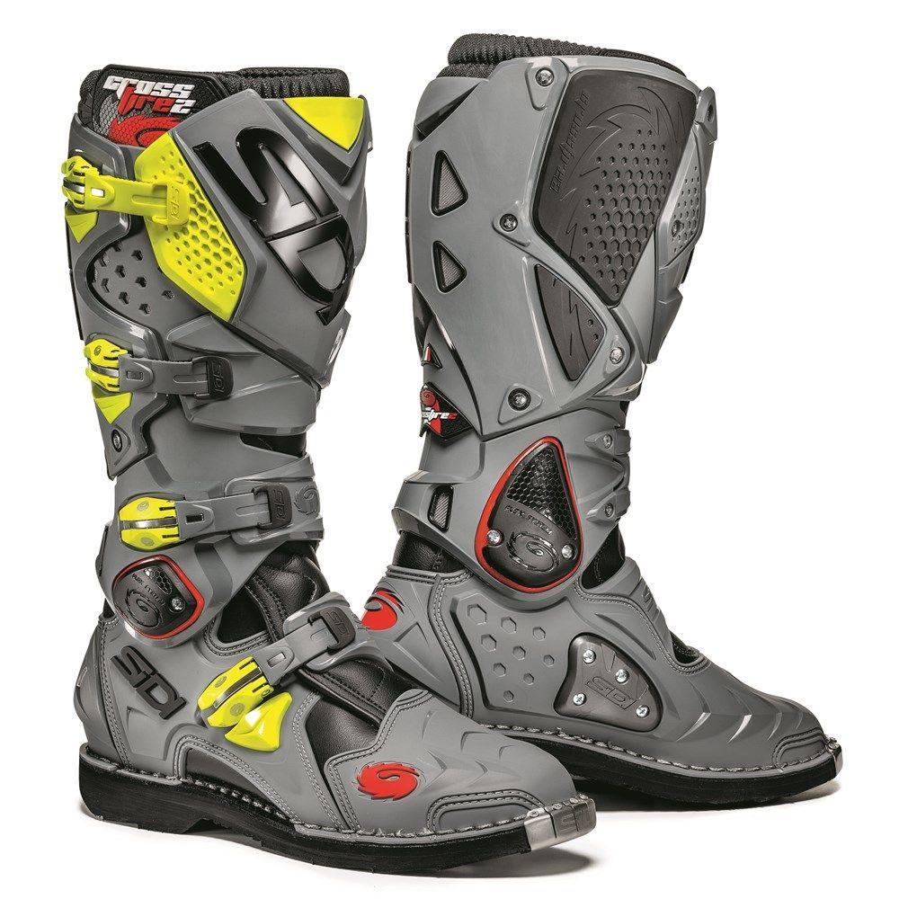 918ed8418bf6 Sidi 2018 Crossfire 2 TA Boots - Black Gray Flo Yellow