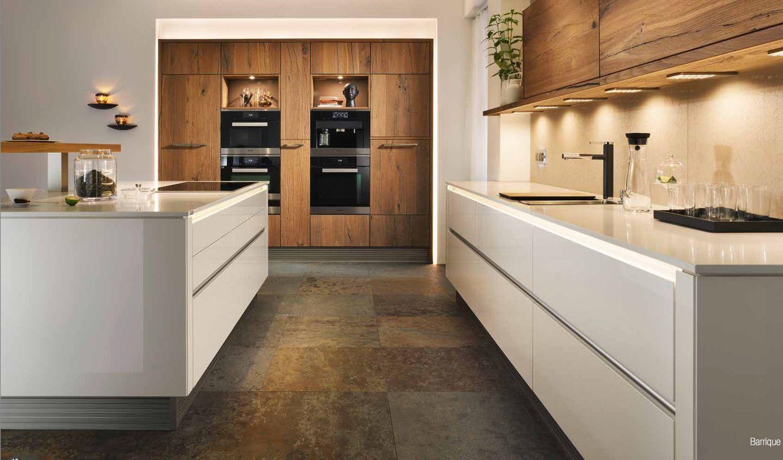 Die Farben unserer neuen Schüller Küche. Alteiche Barrique und