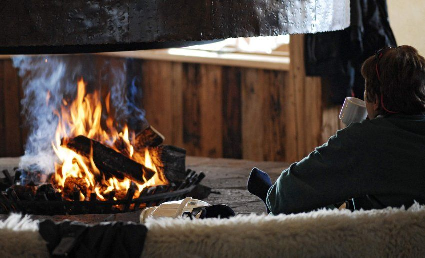 Knisterndes Feuer im Kamin Gemütlich geht es zu im Gradonna - kamin gemtlich