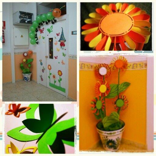 Puerta en primavera ideas para el aula pinterest for Puertas decoradas primavera