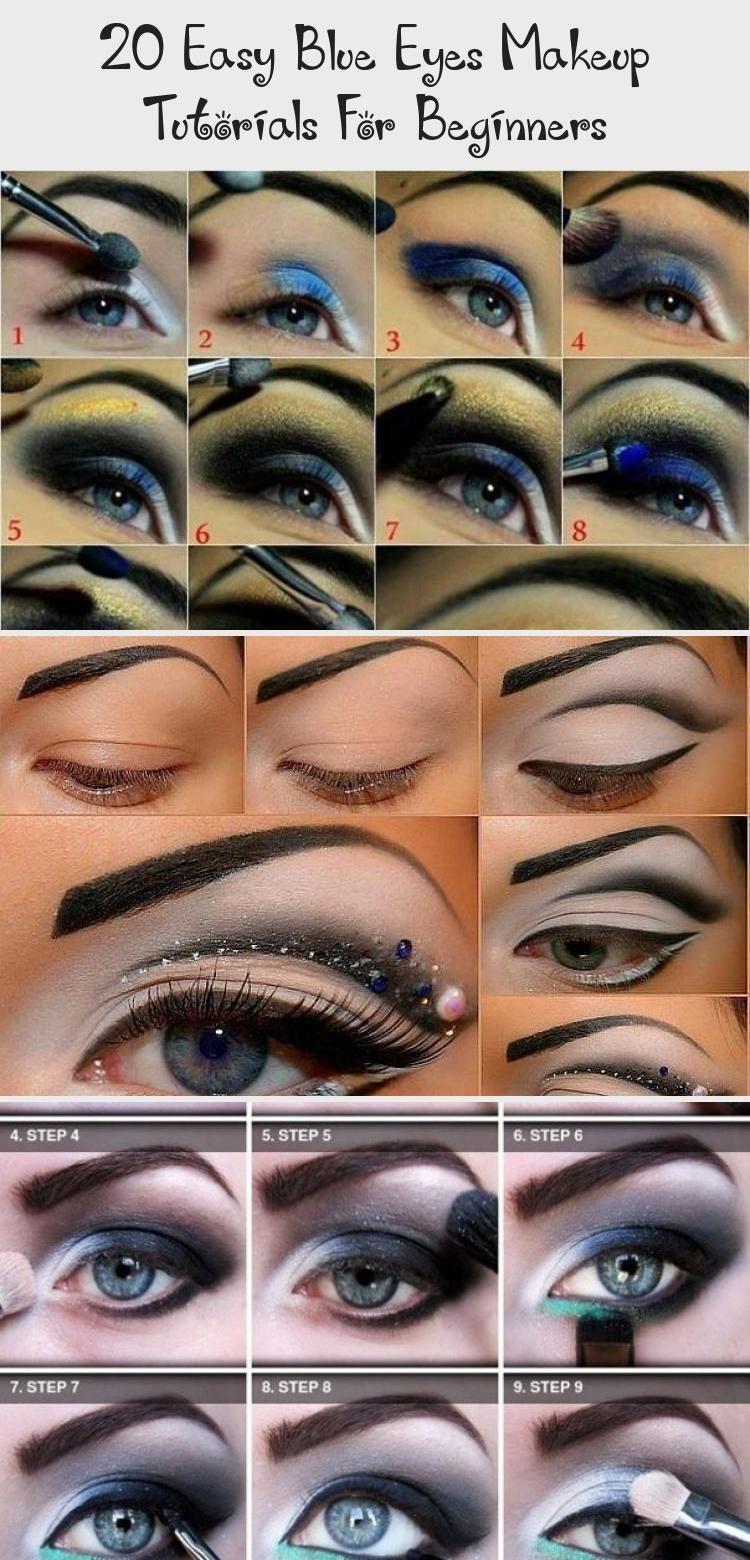 20 easy blue eyes makeup tutorials for beginners | eye