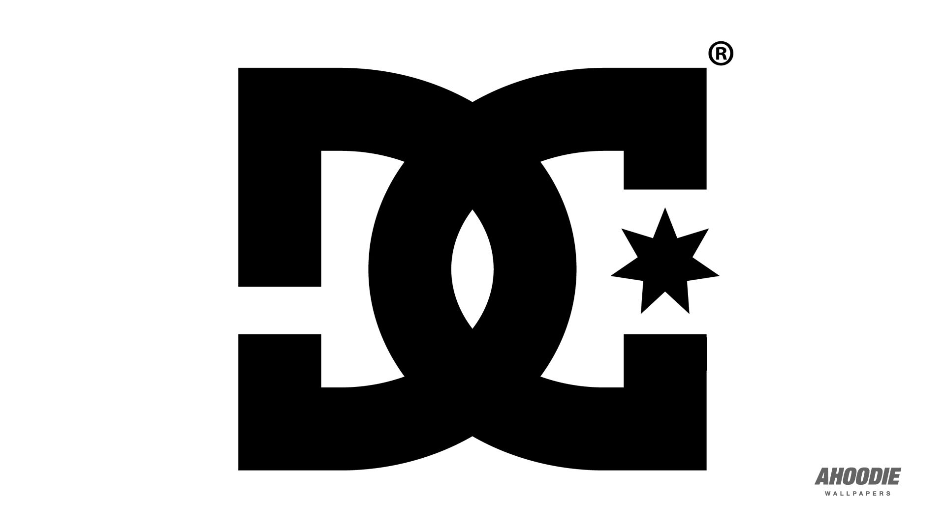 Dc shoes black logo white wallpaper hd high resolution