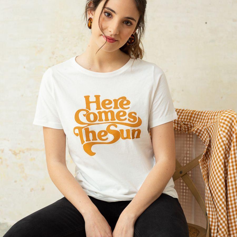 Camiseta The Beatles manga corta blanco | Mode de Mujer