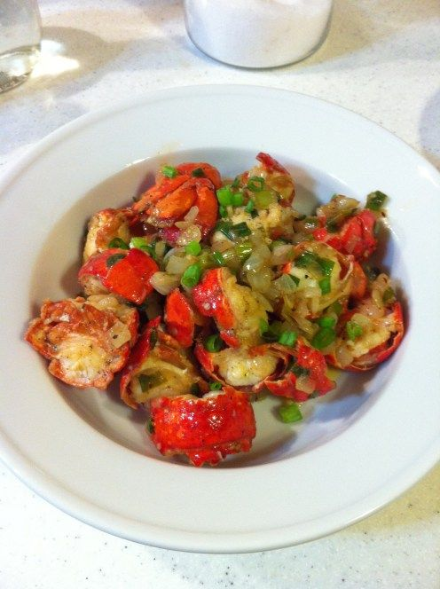 In the Kitchen: Chinese Spicy Garlic Stir Fry Lobster | Best Lobsters, Stir fry and Spicy ideas