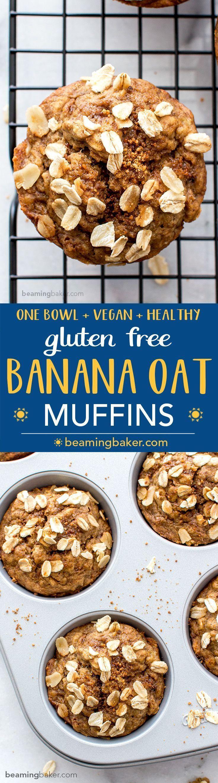 Gluten free banana oat muffins vgf a one bowl recipe