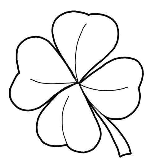 Pictures four leaf clover coloring pages
