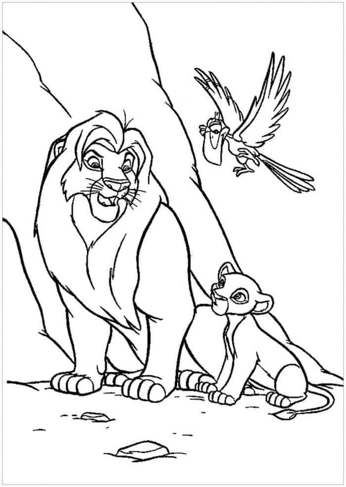 Lion King Printable Coloring Pages Animal Coloring Pages Disney Coloring Pages King Coloring Book