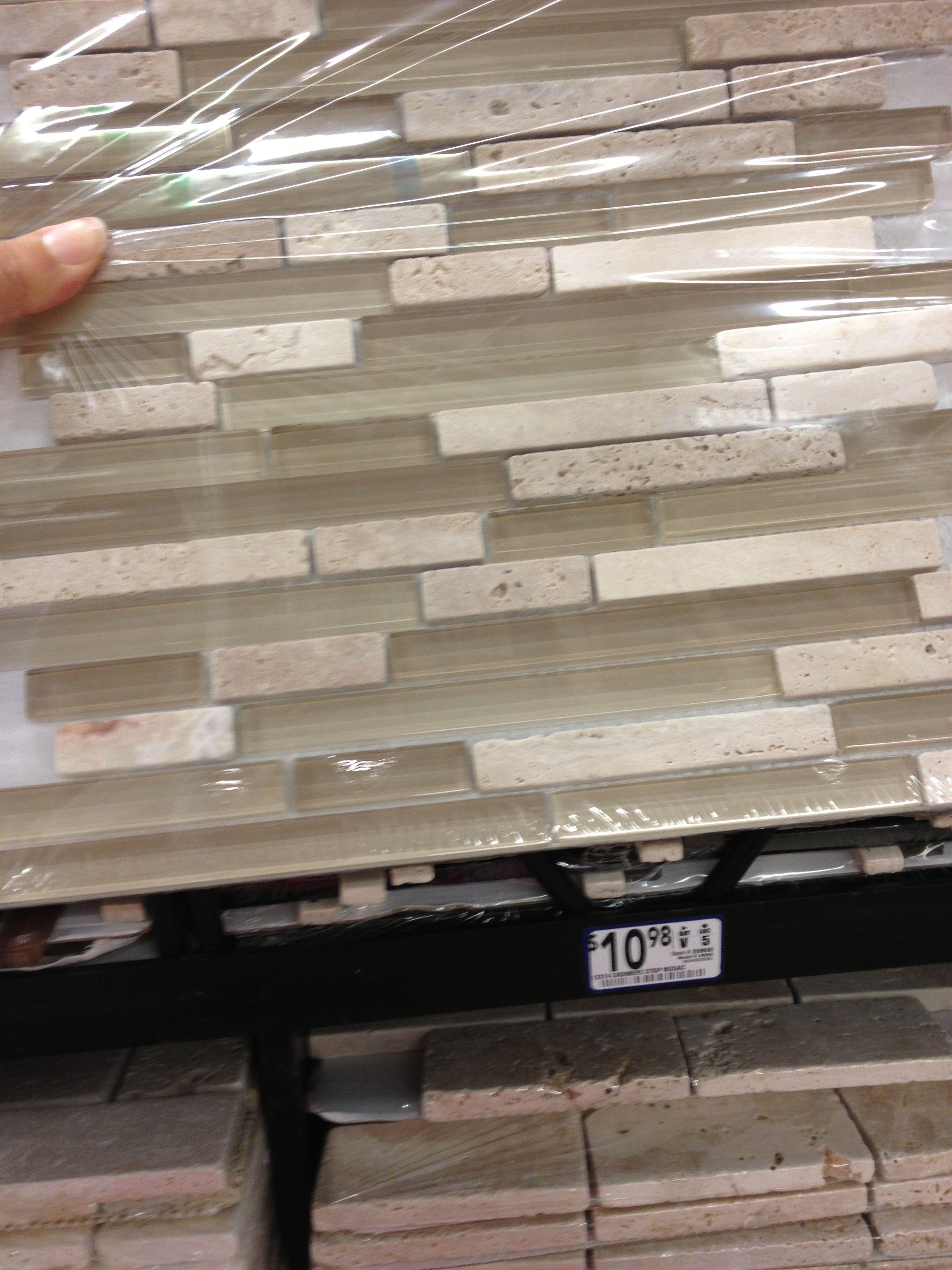 Kitchen backsplash tile at Lowes... Neutral Kitchen