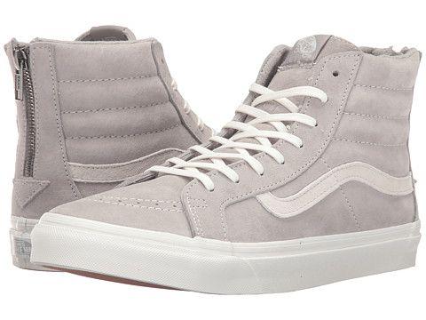 08f40aed0 Vans SK8-Hi Slim Zip (Scotchgard) Cool Grey Blanc de Blanc - Zappos.com  Free Shipping BOTH Ways
