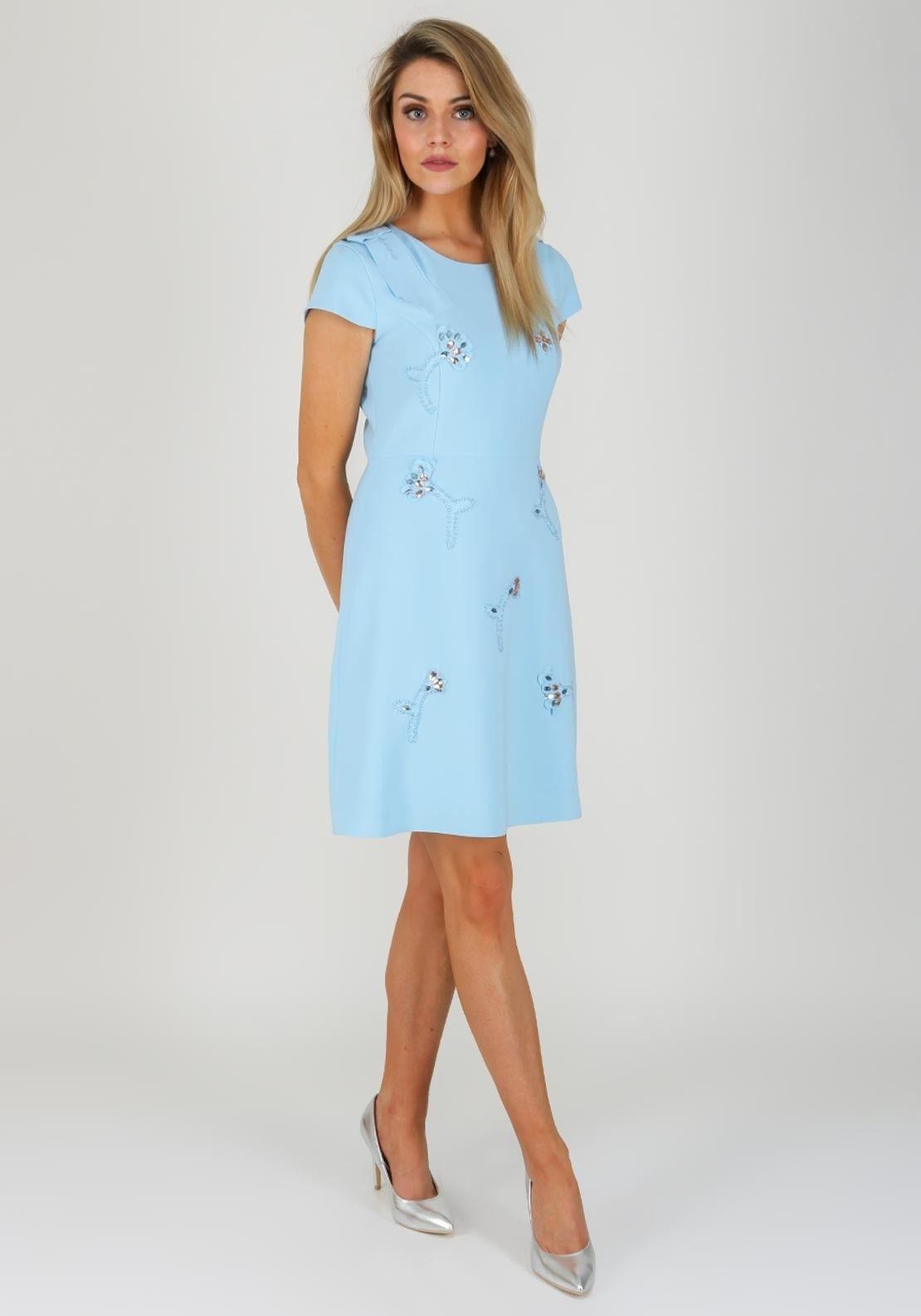 f0dd09429e38 Daisy May Embellished Print Dress