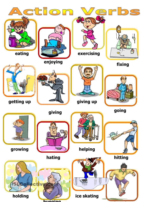 Action verbs board game | classroom | Pinterest | Action ...