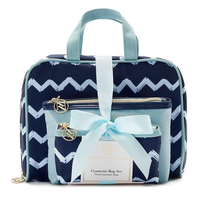 7fe20ed2d9 Adrienne Vittadini 3-pc. Cosmetic Bag Set