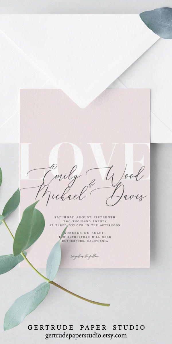 Printable Blush Pink Wedding Invitation Instant Download Diy Etsy Blush Pink Wedding Invitations Diy Wedding Invitations Templates Wedding Invitations Diy
