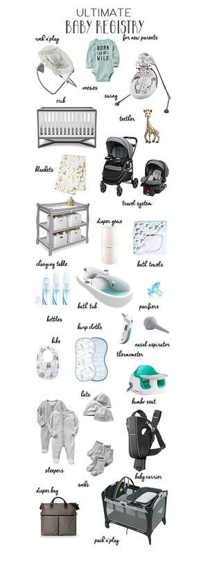Ultimate Baby Registry for New Parents A list of everything you - newborn checklist