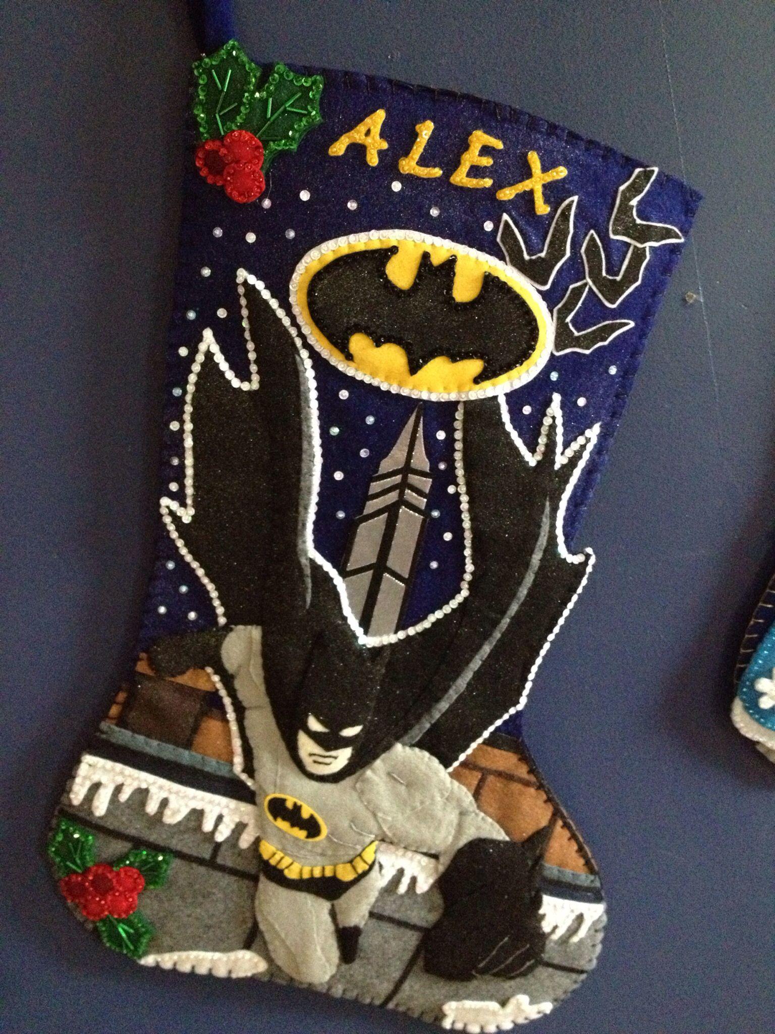 28 batman christmas stocking hand made