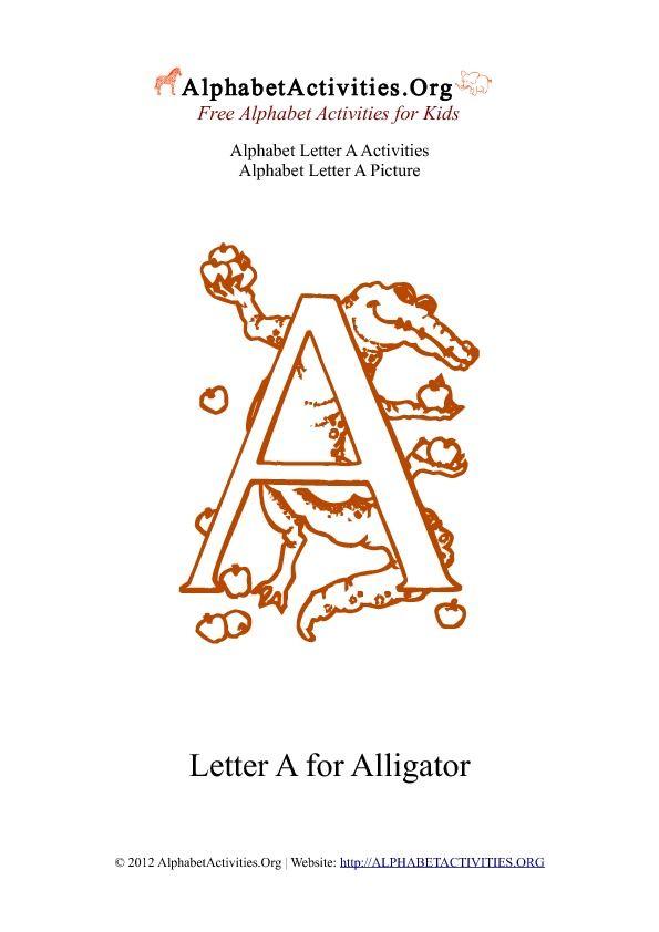 Pdf Printable Alphabet Letter Activities A Alphabet Activities Preschool Letters Letter Activities Alphabet games for kindergarten pdf
