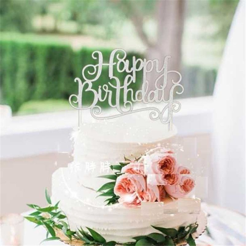 "1pcs Children's Birthday Party Decor Items Birthday cake Inserted Card Decoration Flag "" happy birthday"" Flag Safe Non-toxic"