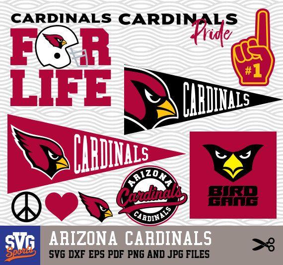 arizona cardinals svg logos monogram silhouette cricut cameo rh pinterest com
