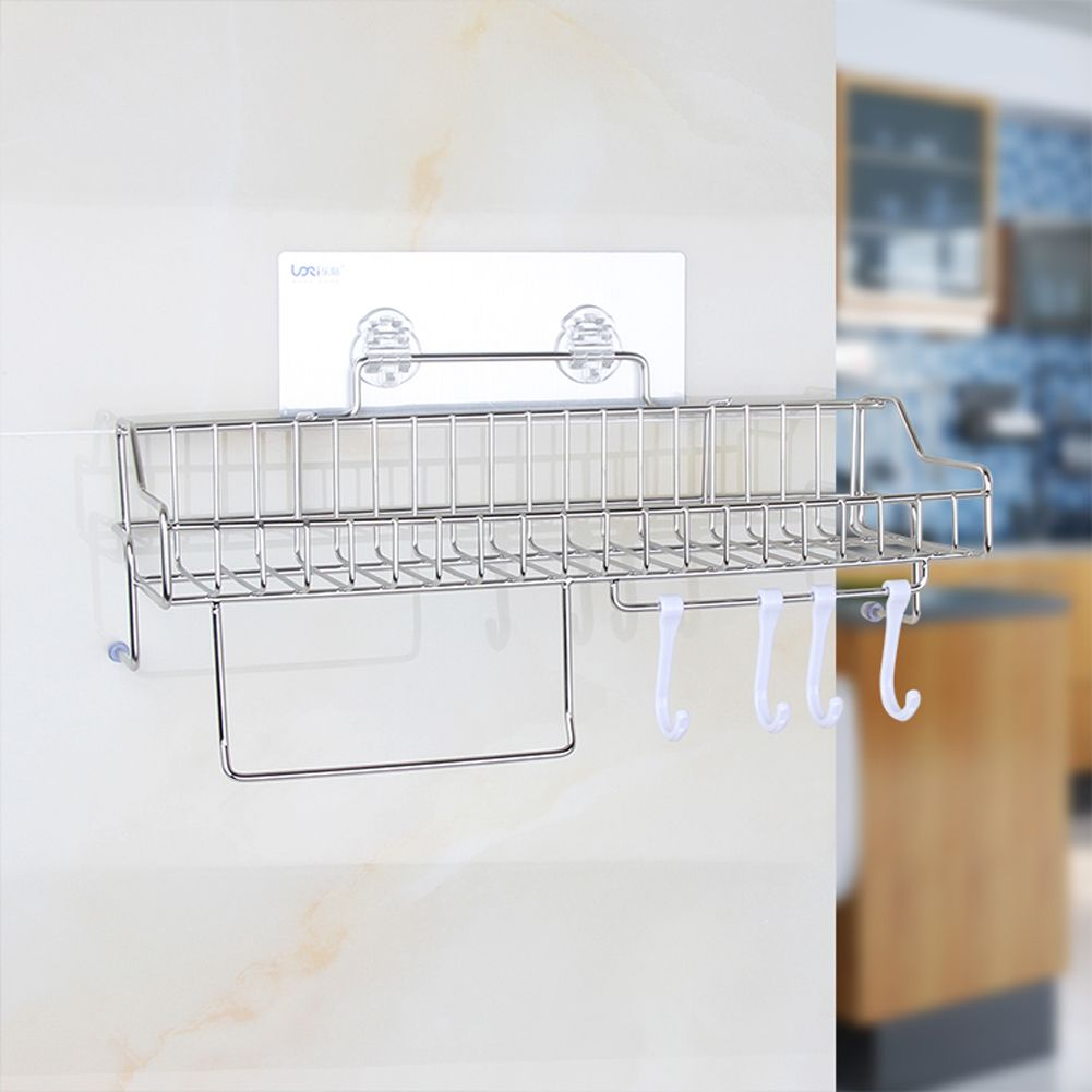Bathroom Shelves Shampoo Holder Stainless Steel Shelf for Bathrooms ...