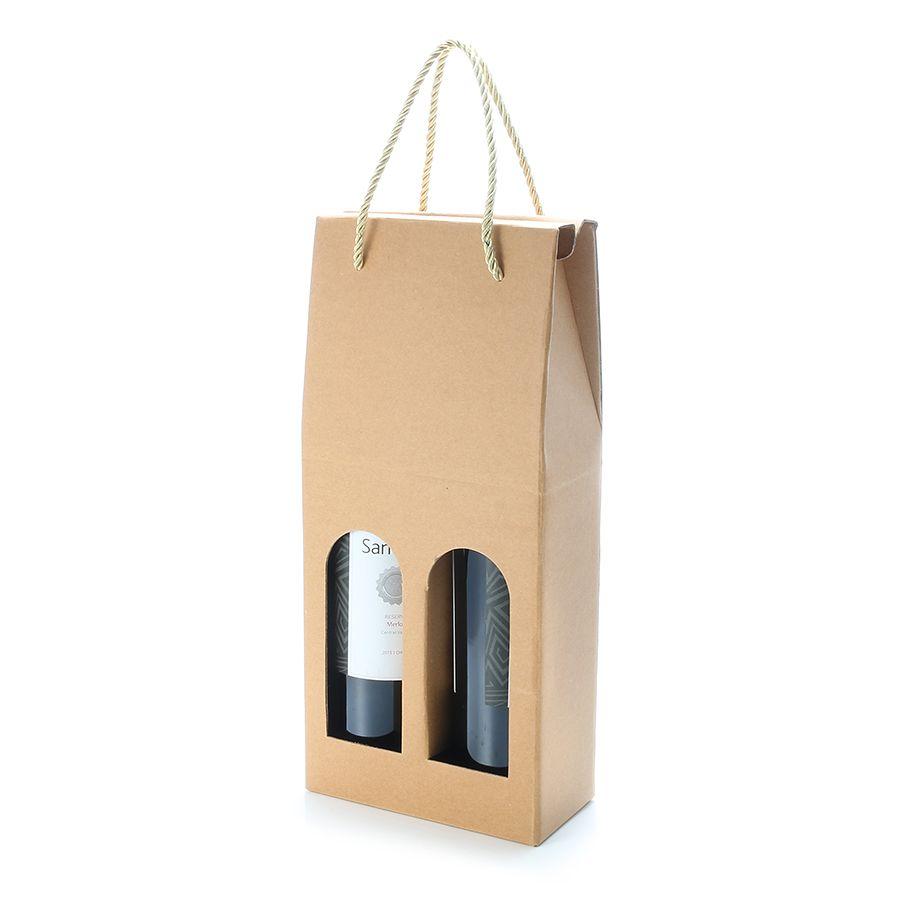 Kcasa Kc Pc03 2 Bottle Corrugated Wine Gift Bag Alcohol Liquor Package Holder Drinks Bottle Carrier Wine Gift Bag Bottle Carrier Wine Gifts