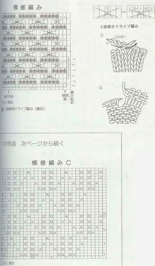 ажурная кофточка спицами - схема