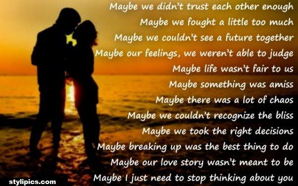 Romantic I Miss You Poem For Ex Girlfriend Words To Live By Poems