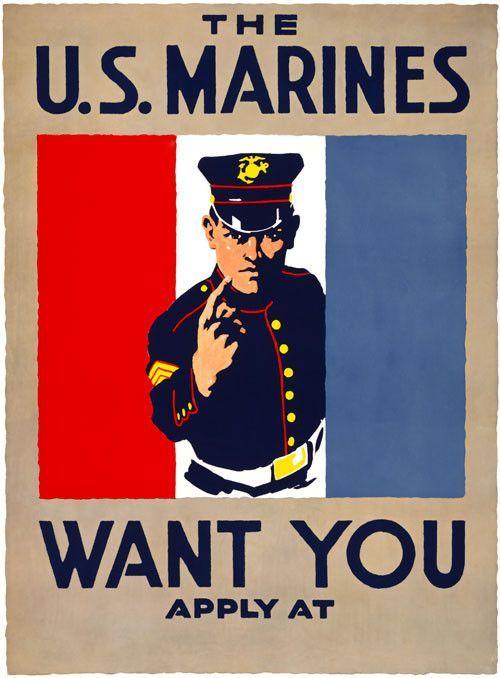 The U S Marines Want You Military Poster Usmc Recruiting Usmc