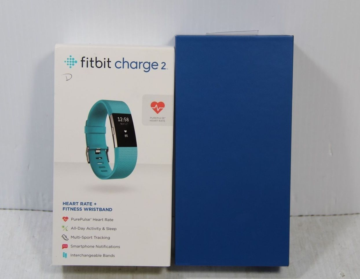 Fitbit Charge 2 HR & Fitness Wristband Size S Blue