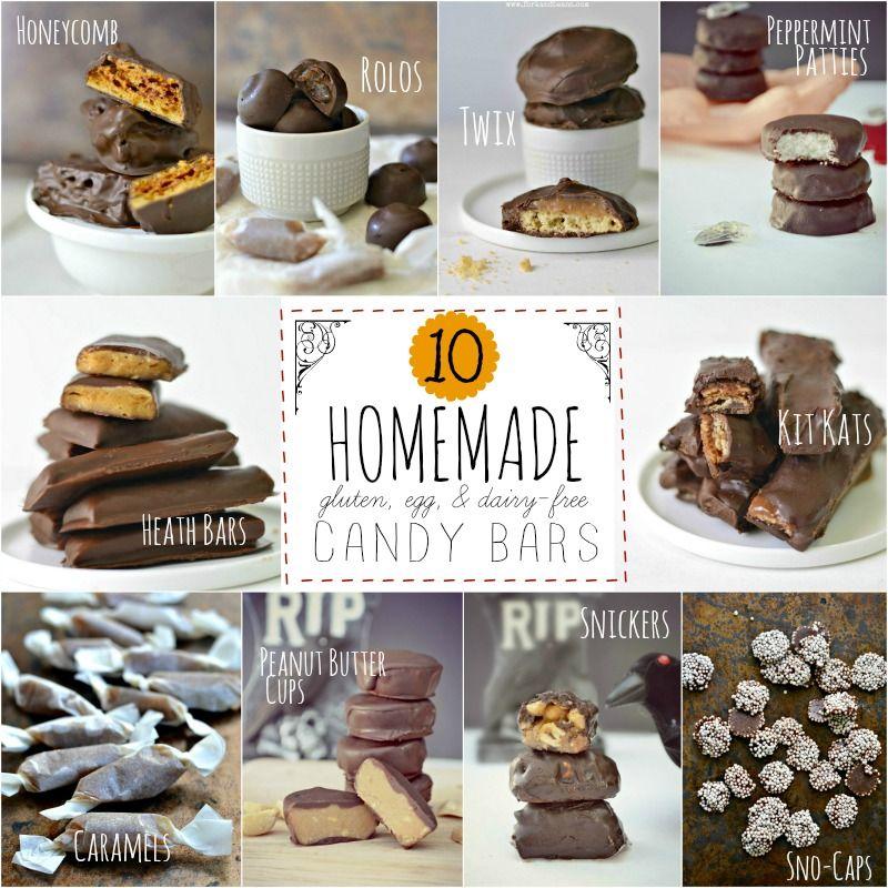 10 Homemade Halloween Candy Bar Recipes Mesa de dulces, Bombones y