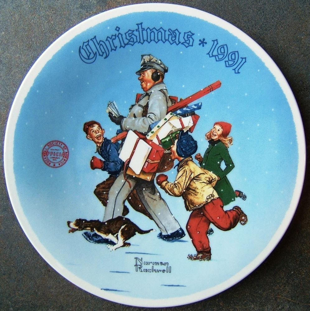 Norman Rockwell Santas Helper Knowles Christmas Plate Limited First ...