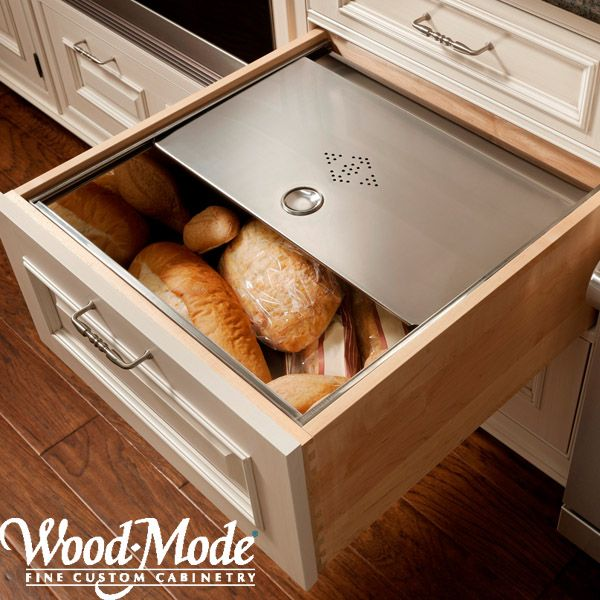 Bread Storage Drawer Shown Here In A Photo From Wood Mode