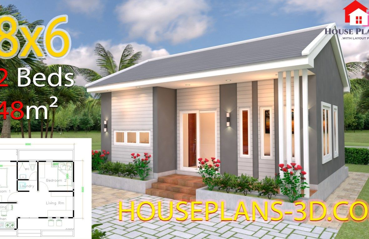 Modern Home Plan 6x12m With 3 Bedroom Samphoas Plan Architectural House Plans House Plans Small House Design Plans